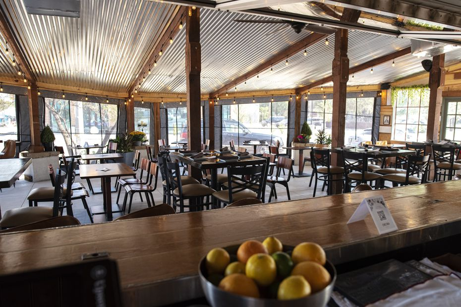 The owners of Encina redesigned the patio. The restaurant opened in early October in North Oak Cliff.