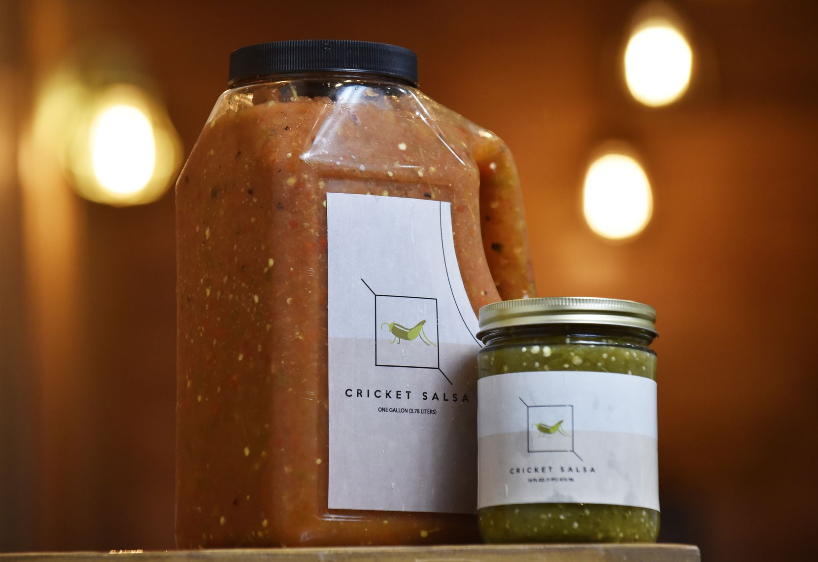 The Costilla family's Cricket Salsa red is mild, while the roasted verde is hot.