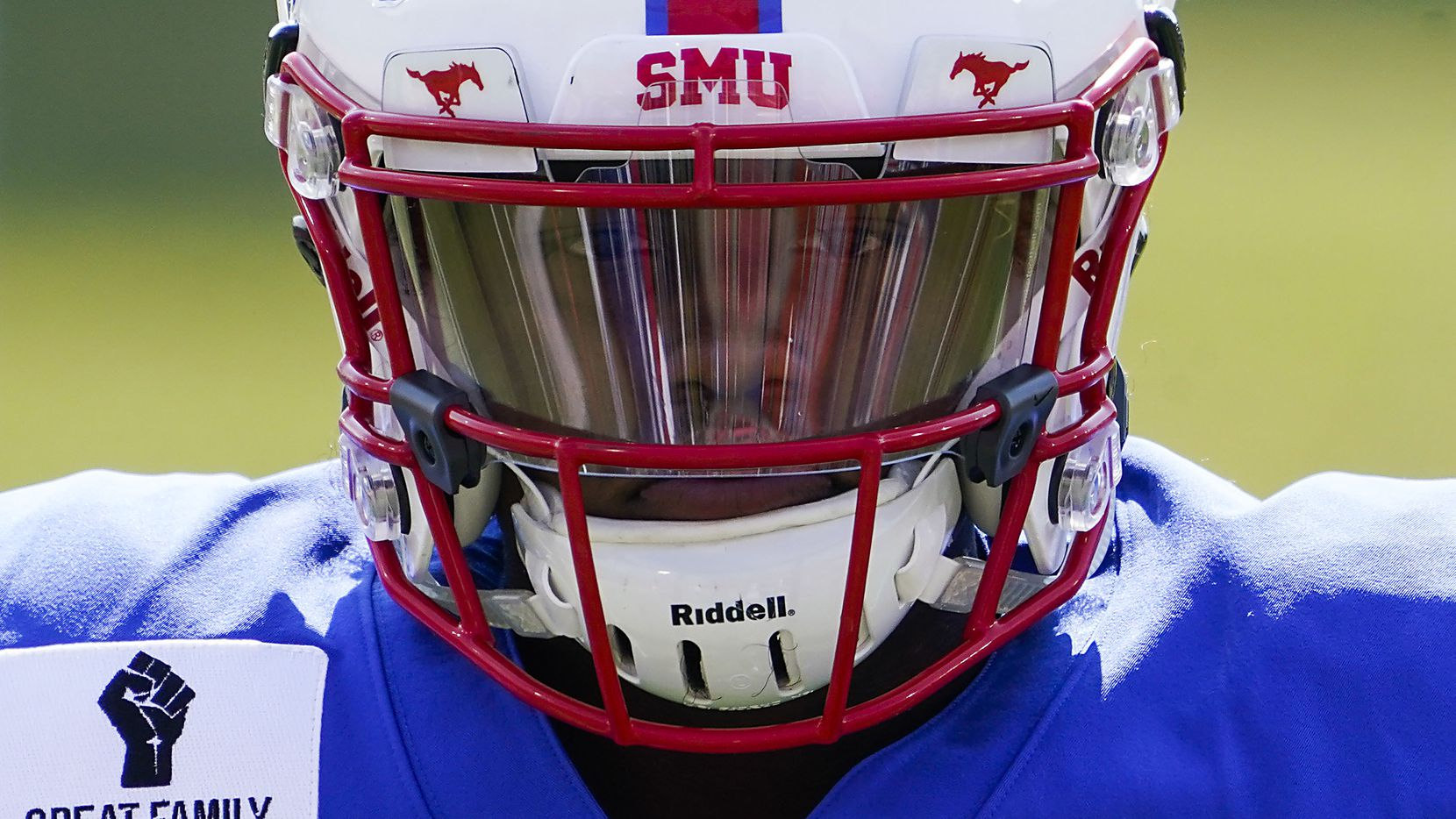 SMU quarterback Terrance Gipson warms up before an NCAA football game against Memphis at Ford Stadium on Saturday, Oct. 3, 2020, in Dallas. (Smiley N. Pool/The Dallas Morning News)