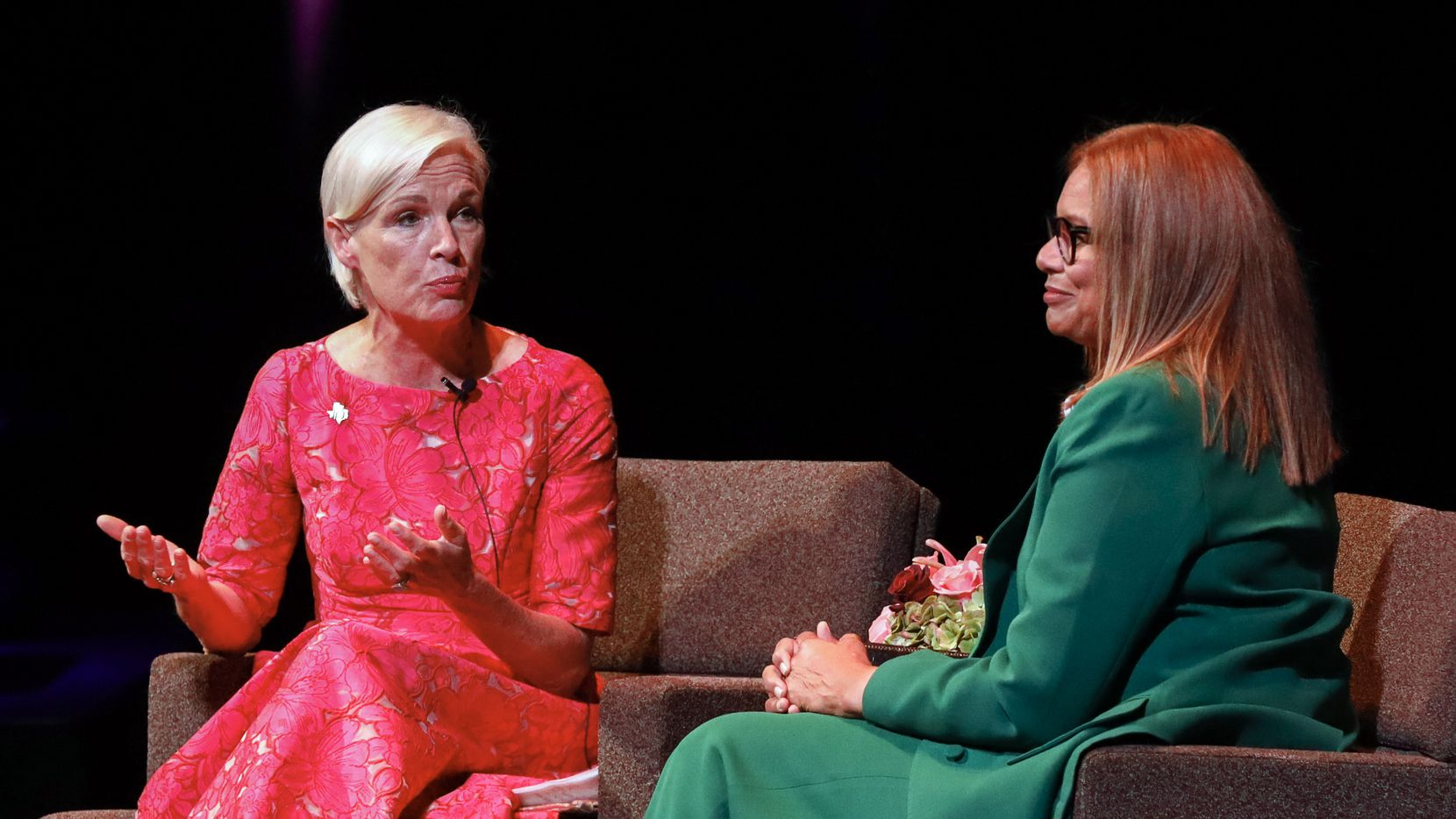 Former Planned Parenthood Federation of America president Cecile Richards speaks with Matrice Ellis-Kirk at the Planned Parenthood of Greater Texas' Dallas Awards at the AT&T Performing Arts Center on Thursday, Sept. 23, 2021, in Dallas.