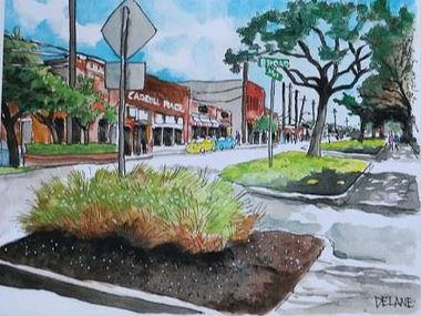 Rare Rose by Daniel Yanez, one of eight artworks that will be featured in downtown Mesquite's new Front Street Station development.
