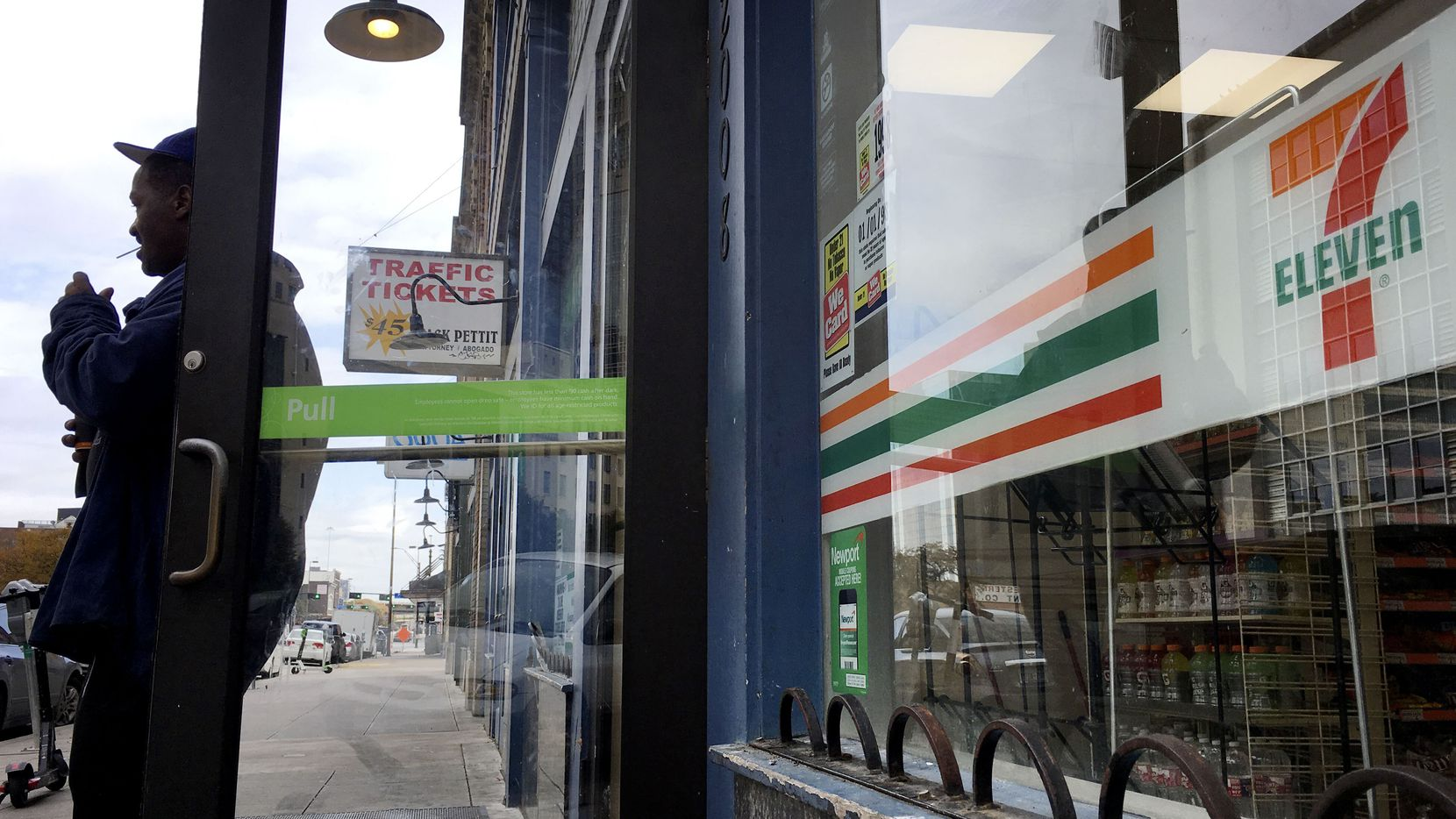 An ATM was stolen from the 7-Eleven at Commerce and Harwood streets in downtown Dallas on Wednesday.