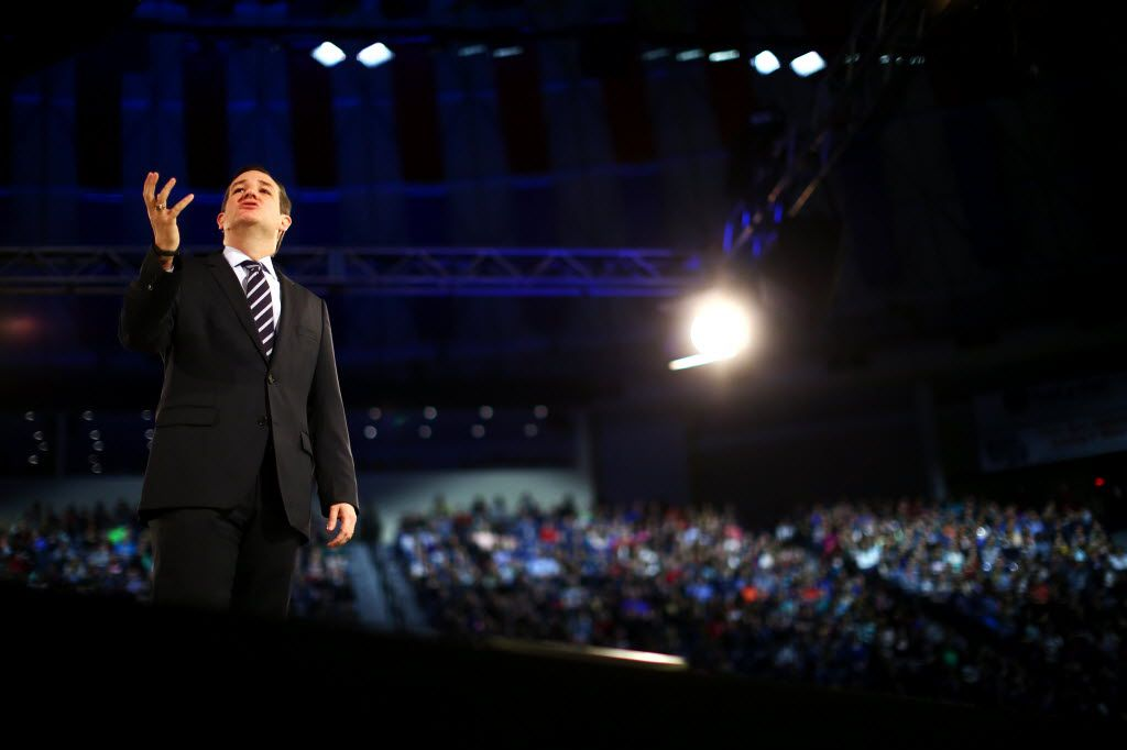 """Sen. Ted Cruz (R-Texas) speaks at Liberty University in Lynchburg, Va., March 23, 2015. Cruz on Monday formally announced his candidacy for the 2016 Republican presidential nomination, promising a campaign that would be about """"re-igniting the promise of America."""" (Travis Dove/The New York Times) 03242015xNEWS"""