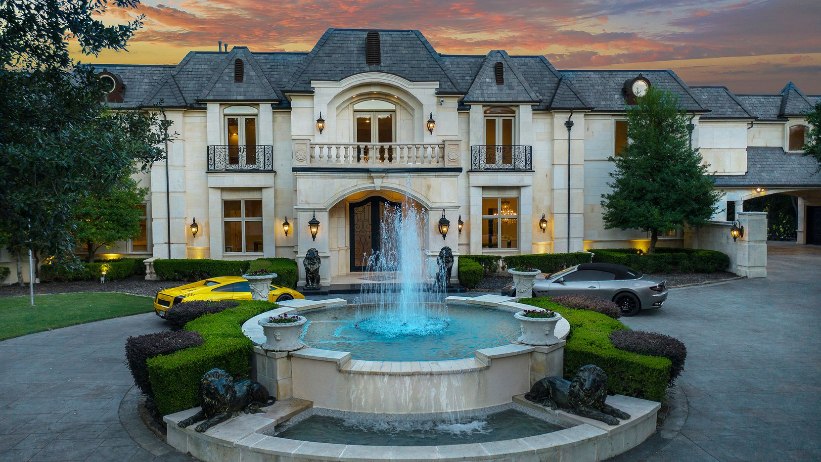 Offered at $4,490,000, the luxury-filled estate at 2000 Willow Bend Drive has a nine-car garage.