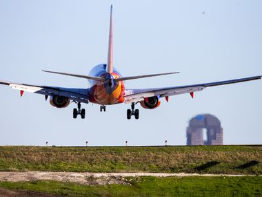 A Southwest Airlines Boeing 737 jet landed at Dallas Love Field on March 13, 2019. Bringing back the 737 Max will close one of the most tumultuous chapters in Southwest's 50-year history, a crisis that caused it to ground 34 airplanes and cancel thousands of flights.