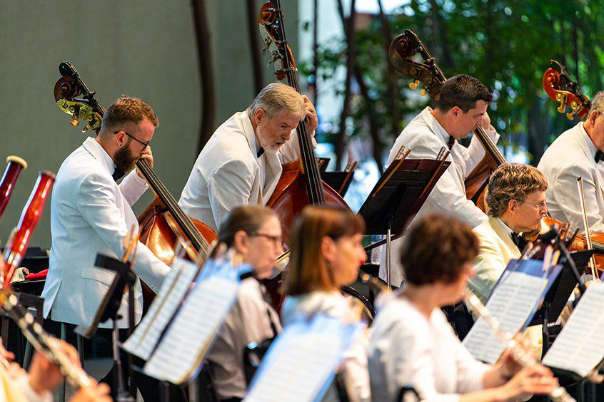 The Dallas Symphony Orchestra performs at the Bravo! Vail Music Festival in 2019, as it has most summers since 1999. The festival has canceled this year's activities due to the continuing coronavirus pandemic.