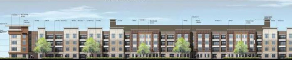 Humphreys & Partners designed the 5-story rental project for Davis Development.
