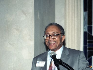 Dr. Maxwell Scarlett, the first Black graduate of The University of Texas at Arlington and a Fort Worth physician, died last month at age 76.