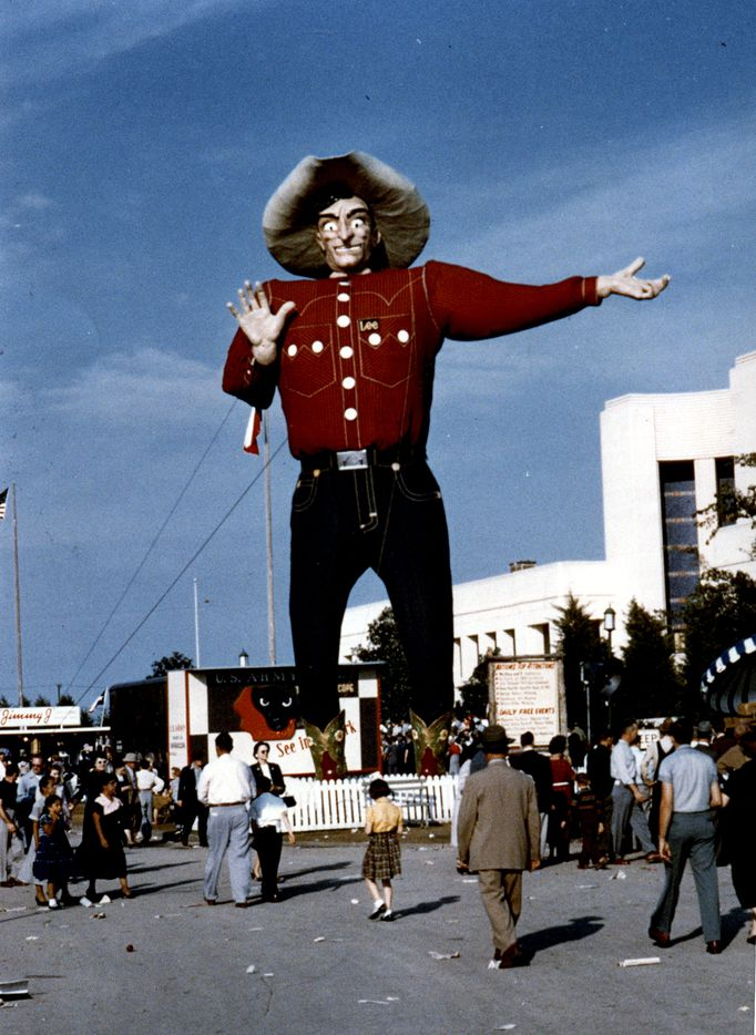 Big Tex made his debut at the 1952 State Fair of Texas.
