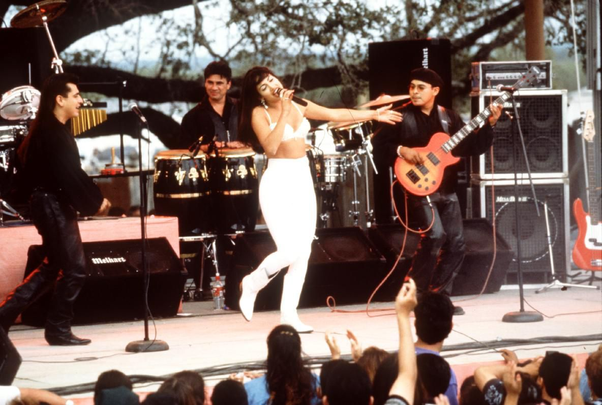 """Jennifer Lopez stars in """"Selena."""" The film will be screened May 27 at 8:45 p.m. at Dallas Heritage Village as part of the Rooftop Cinema Club's Summer Series."""