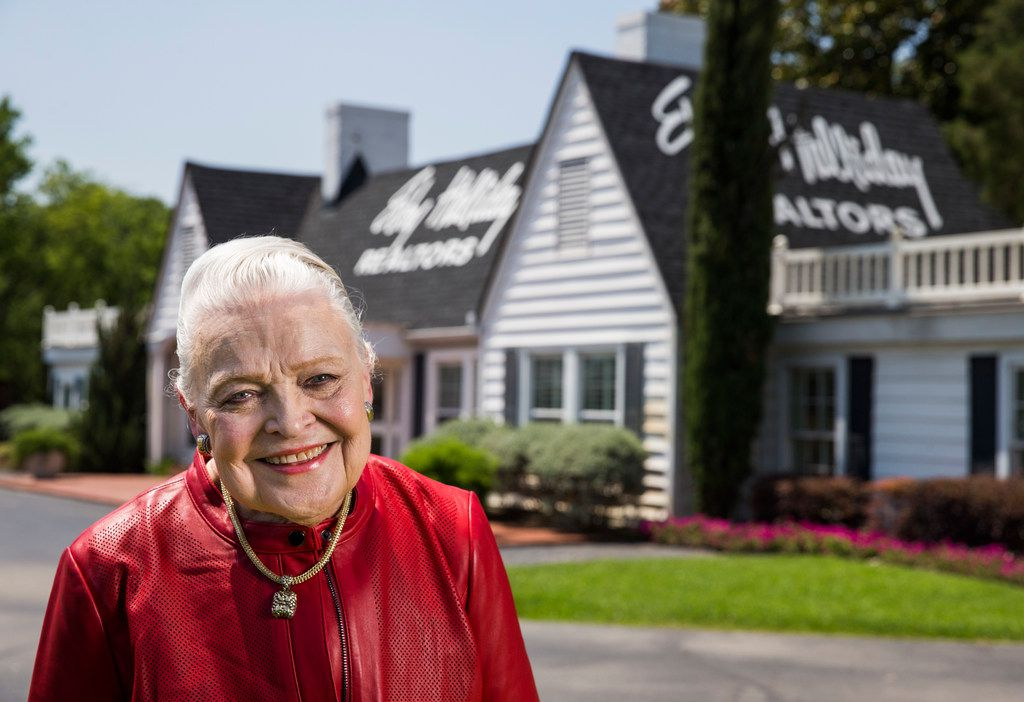 Mary Frances Burleson, CEO of Ebby Halliday Realtors, poses for a portrait outside Ebby Halliday Realtors' Little White House in Dallas on Friday, June 1, 2018. (Ashley Landis/The Dallas Morning News)