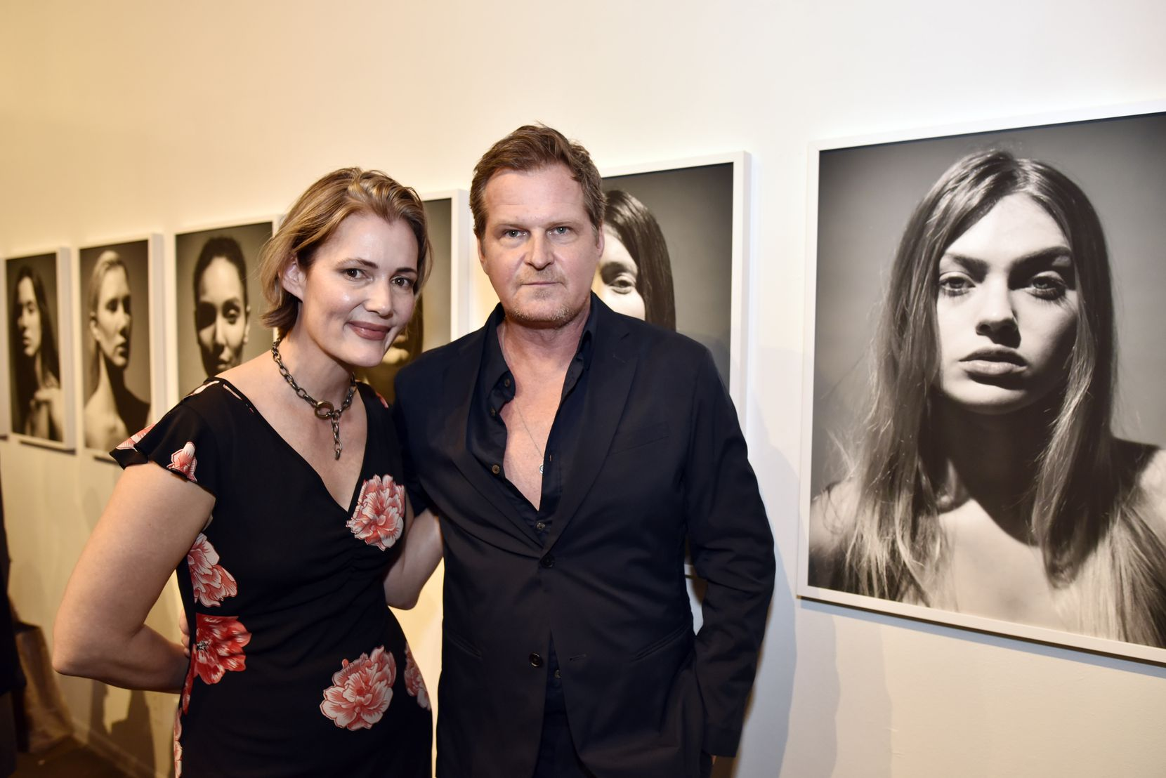 Photographer Fredrik Broden (right) with his wife, Lauren Galyean (left), at a 2017 exhibition of Broden's work at Tractorbeam gallery in Dallas.
