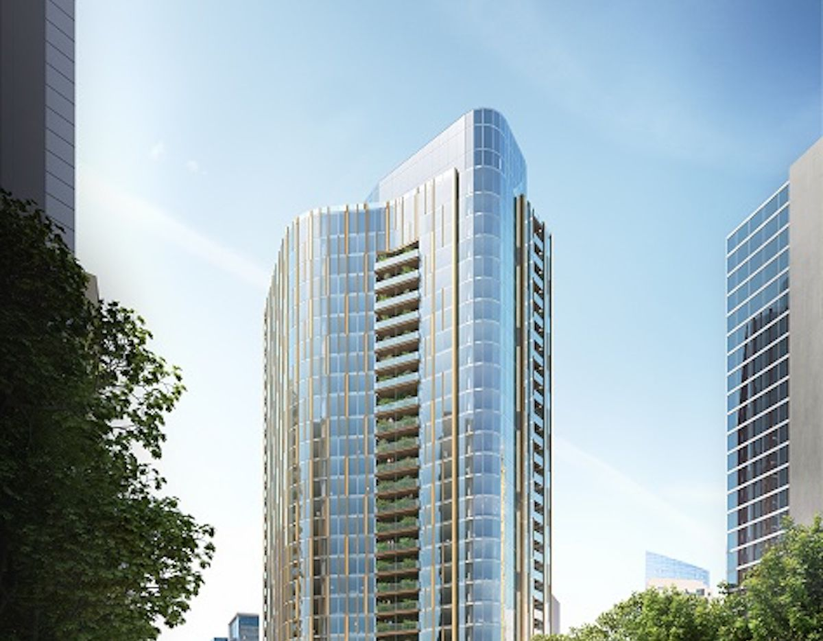 The 26-story 1899 McKinney tower will have lushly planted balconies featuring more than 40,000 plants.