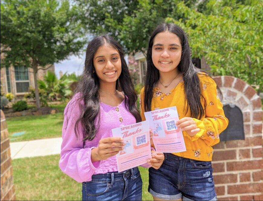 Heritage High School sophomores and best friends Tanya Sayooj and Amoolya Tadepalli