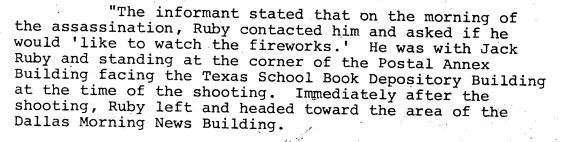 From an April 1977 FBI memo recounting an IRS tipster's story about Jack Ruby.