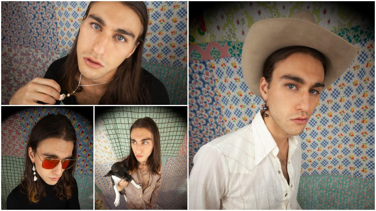 Designer Presley Oldham continues his family's creative legacy by launching a new line of handcrafted jewelry, which he is modeling and photographing via selfies during the pandemic.