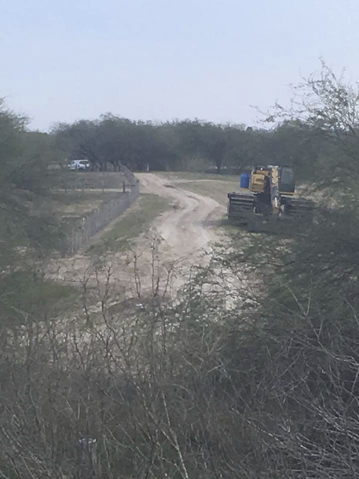 A photo taken Sunday, Feb. 3, 2019 shows construction equipment parked on land immediately to the east of the National Butterfly Center in Mission, Texas.