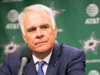 FILE - The Stars' Jim Lites is pictured above during a press conference at American Airlines Center on Thursday, April 13, 2017, in Dallas.