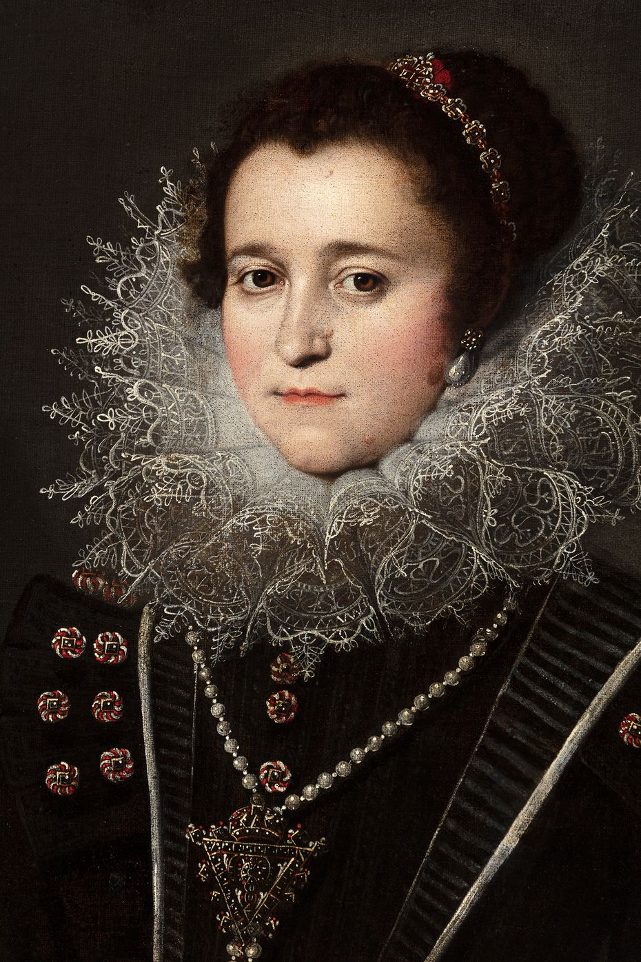 """Earlier this year, the Meadows acquired 1621 from Bartolomé González y Serrano """"Portrait of a lady"""" in honor of Roglán."""