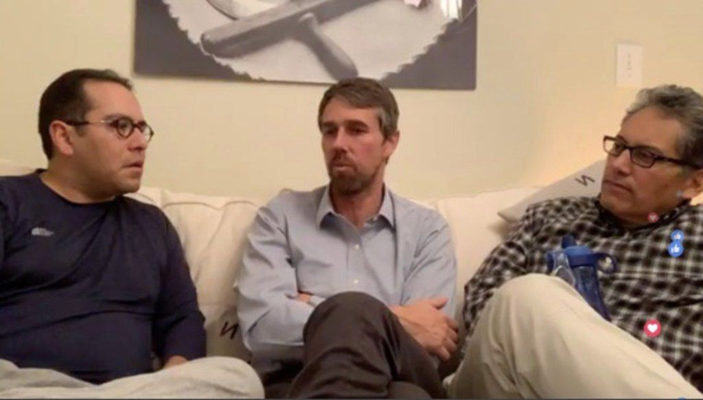 Former El Paso Congressman Beto O'Rourke went on Facebook Live on Jan. 8 to discuss border issues.