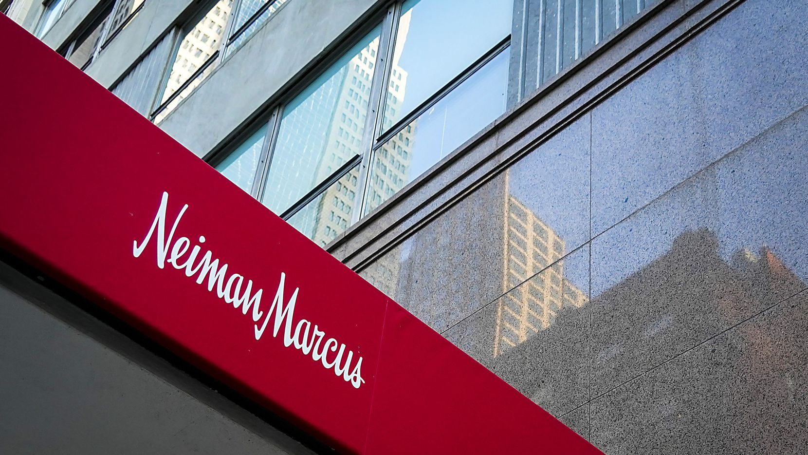 Exterior view of the Neiman Marcus flagship store on Main Street in downtown Dallas.