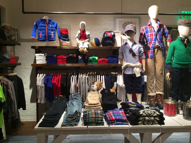 The boys section at the Ralph Lauren store at NorthPark Center.