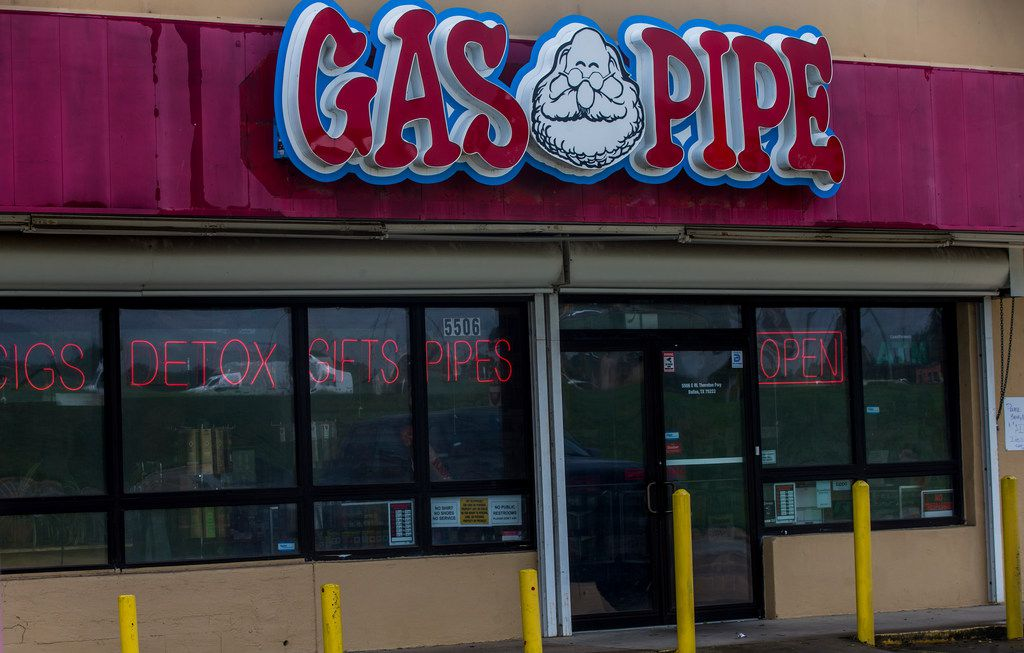 The Gas Pipe store at East R.L. Thornton Fwy & Grand Ave. photographed on Friday, September 21, 2018, in Dallas.