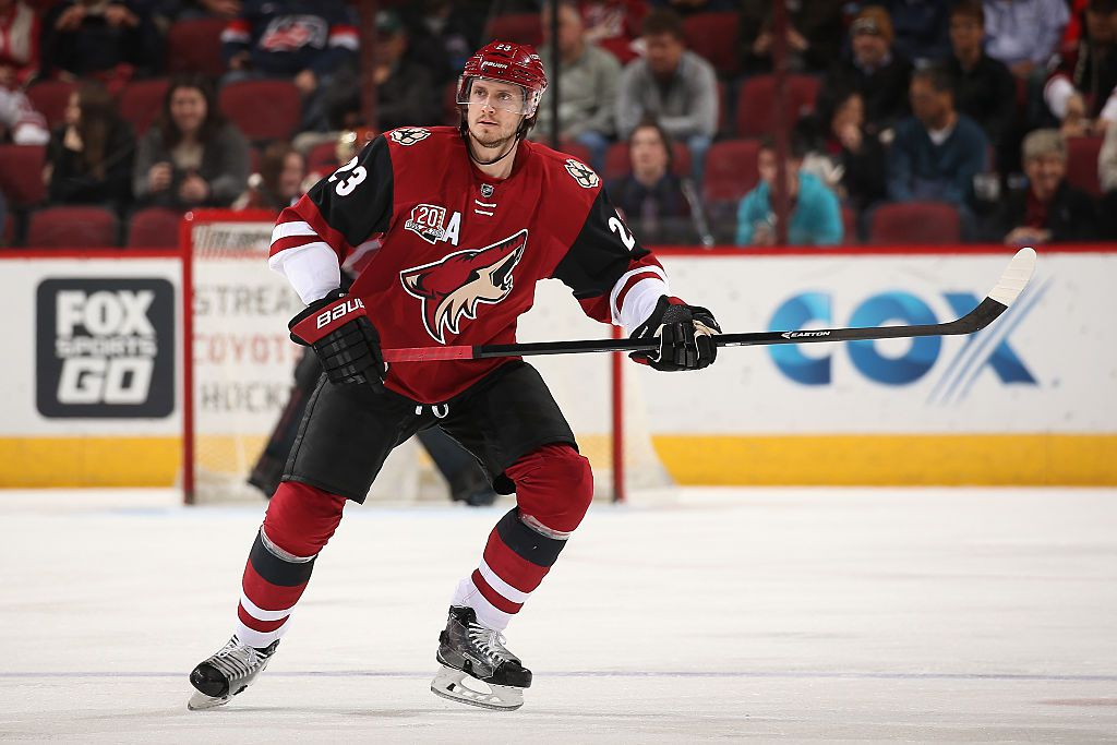 GLENDALE, AZ - DECEMBER 08: Oliver Ekman-Larsson #23 of the Arizona Coyotes in action during the NHL game against the Calgary Flames at Gila River Arena on December 8, 2016 in Glendale, Arizona. The Flames defeated the Coyotes 2-1 in overtime. (Photo by Christian Petersen/Getty Images)