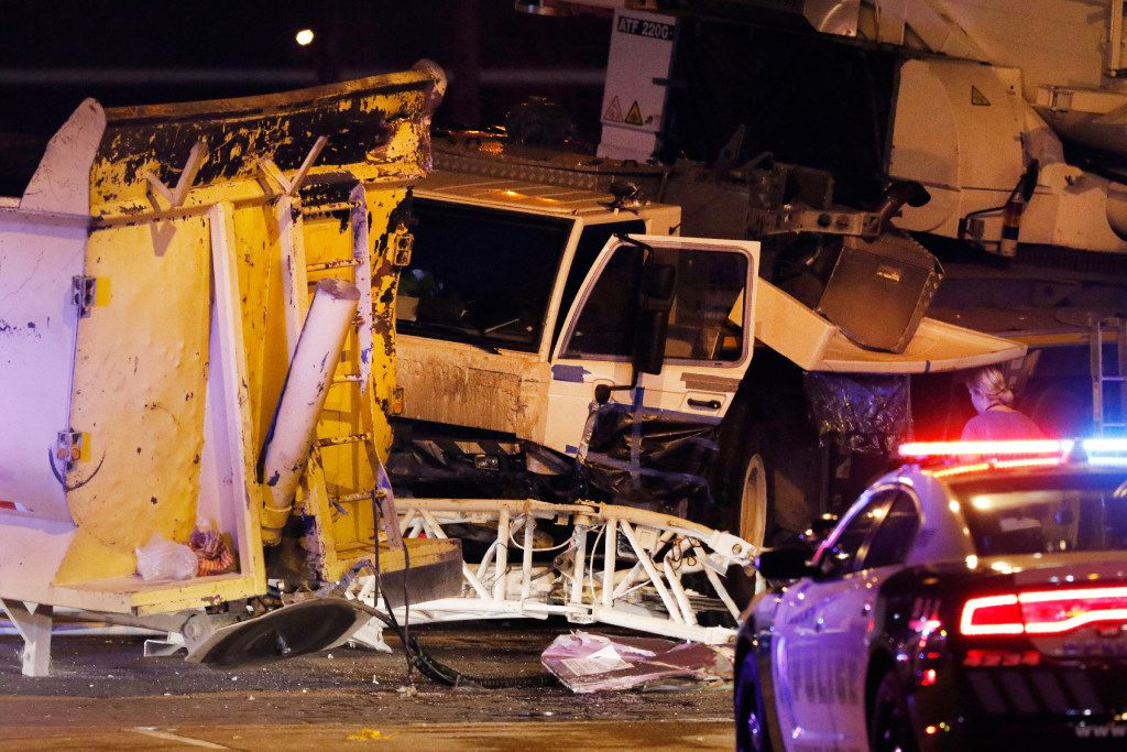 One person was killed Sept. 10, 2017, when a semi-trailer truck collided with a crane south of downtown Dallas that was hired to remove the Robert E. Lee statue in Oak Lawn.