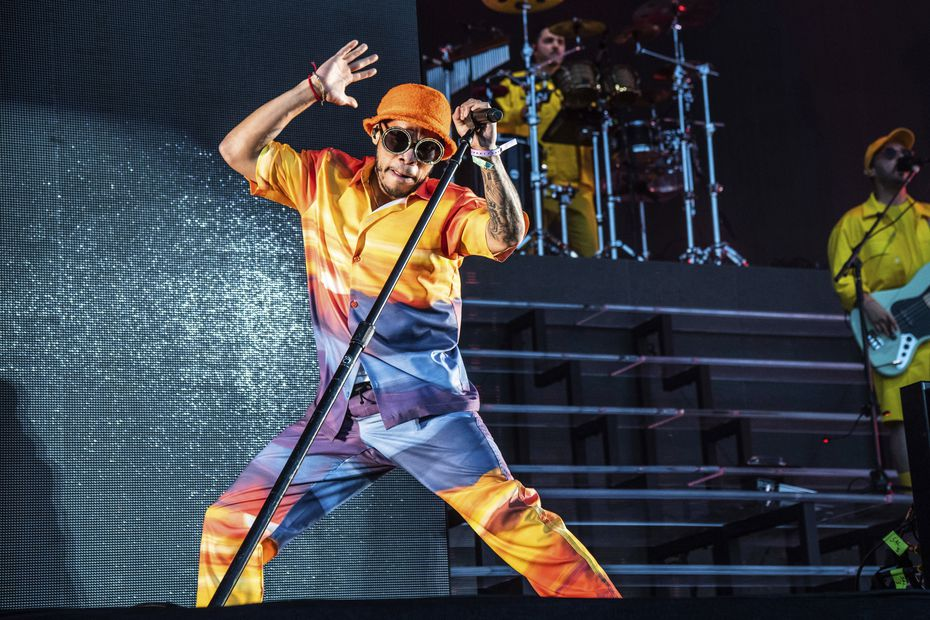 Anderson .Paak performs at the Coachella Music & Arts Festival at the Empire Polo Club on Friday, April 19, 2019, in Indio, Calif.