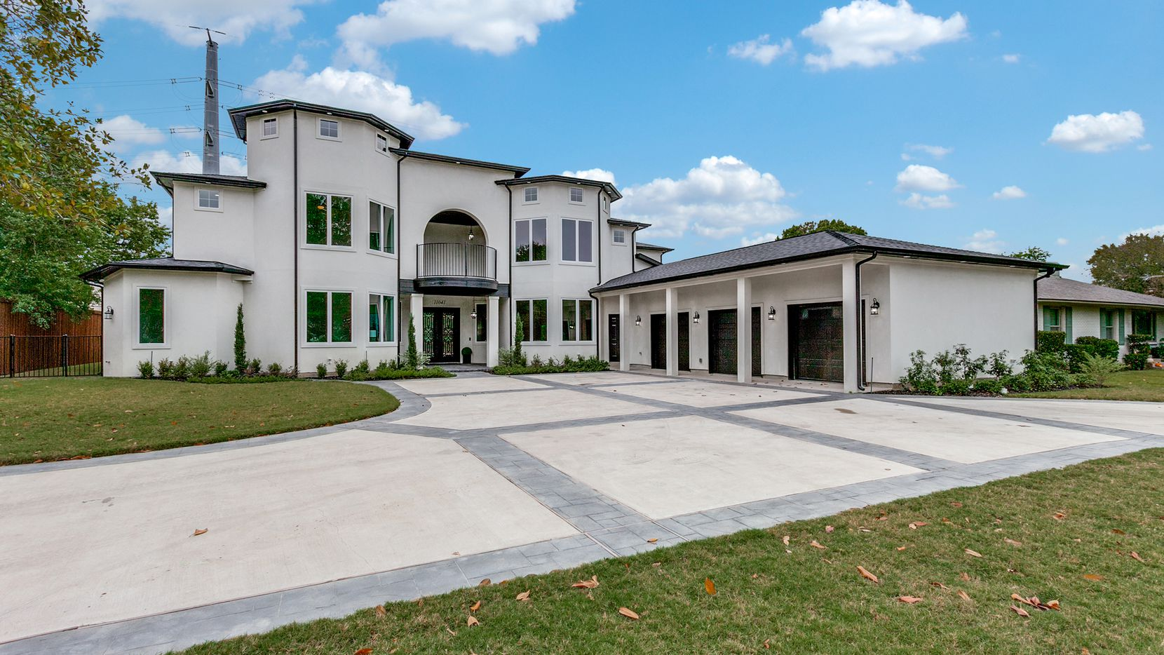The newly constructed residence at 11041 Lawnhaven Road is on the Northaven Trail.