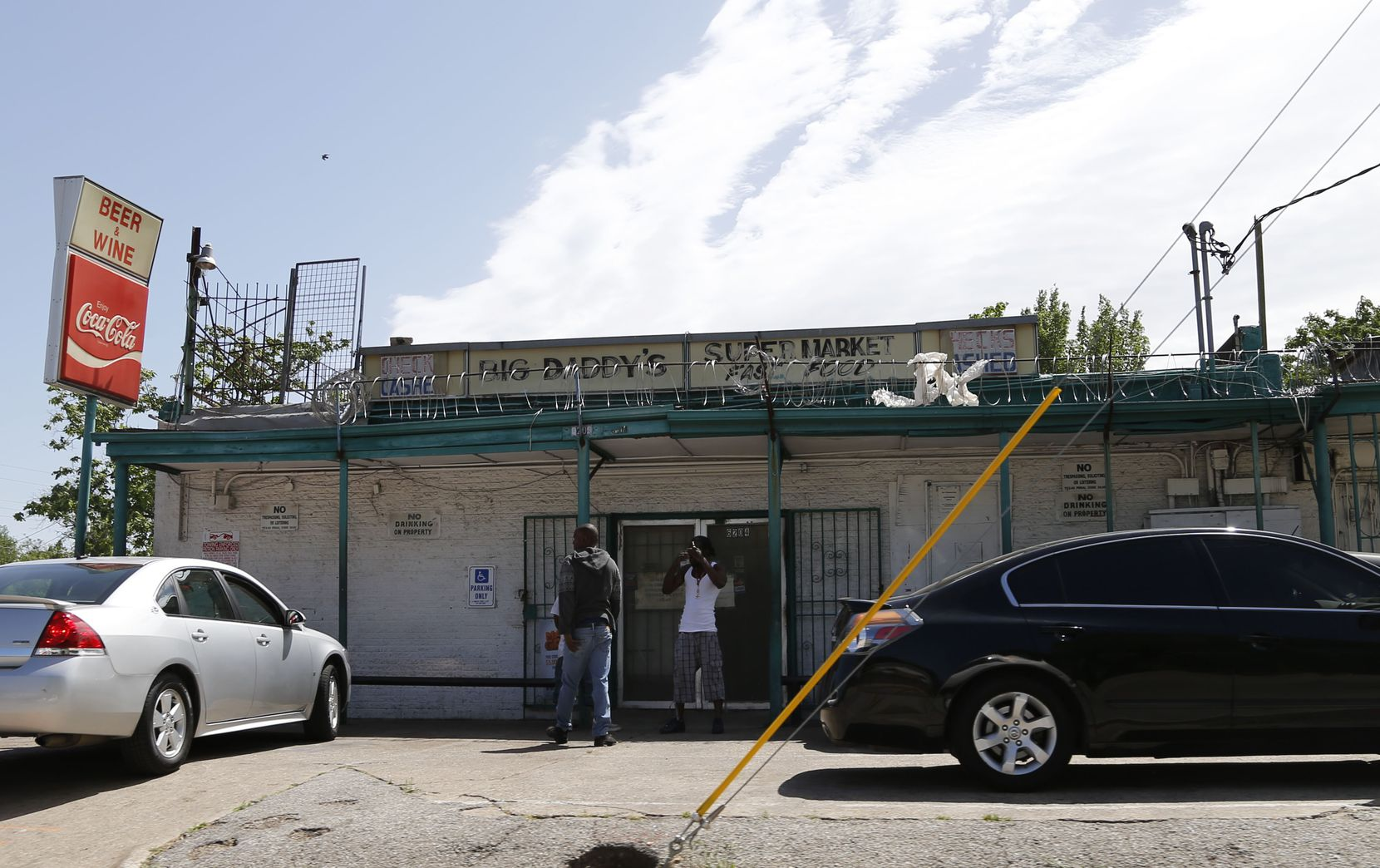 One of Hailu Ejigu's businesses, Big Daddy's Supermarket and Food at 6204 Bexar Street  in Dallas, Texas on Monday, April 29, 2014. (Vernon Bryant/The Dallas Morning News)