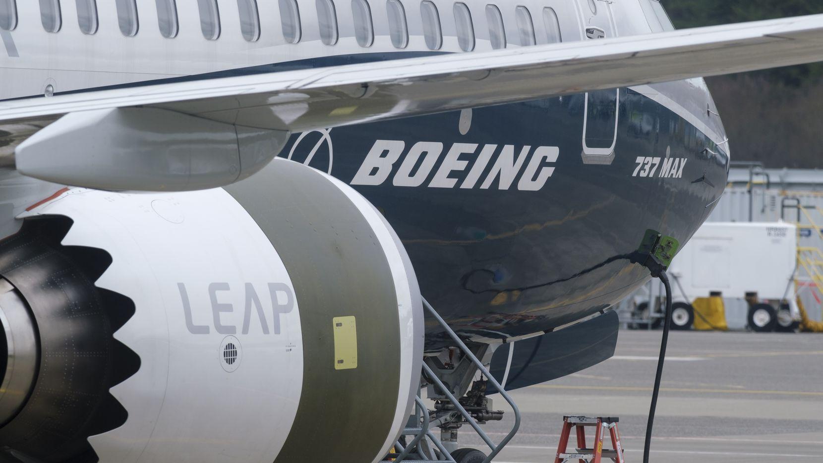 Una nave Boeing 737 MAX en la planta de manufactura de Boeing.
