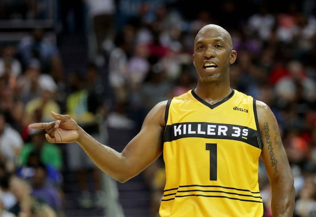 CHARLOTTE, NC - JULY 02:  Chauncey Billups #1 of Killer 3s reacts during week two of the BIG3 three on three basketball league at Spectrum Center on July 2, 2017 in Charlotte, North Carolina.  (Photo by Streeter Lecka/Getty Images)