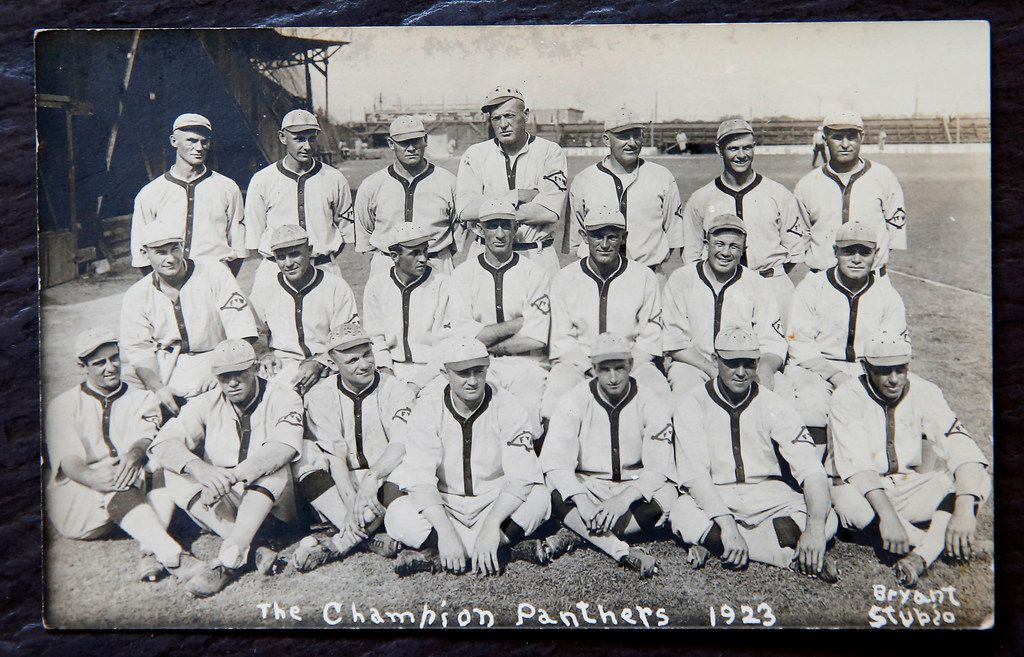 The Fort Worth Panthers baseball team, from 1923. The photo is owned by Tarrant County historian Larry Schuessler.