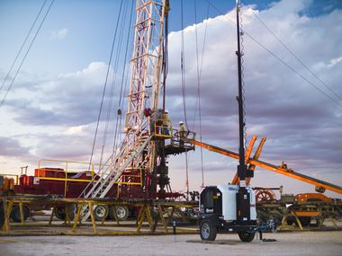 One of Basic Energy Services' 24-hour well-servicing rigs operating in the Permian Basin.