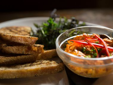 Smoked red pepper pimento cheese at Local Yocal BBQ and Grill in McKinney