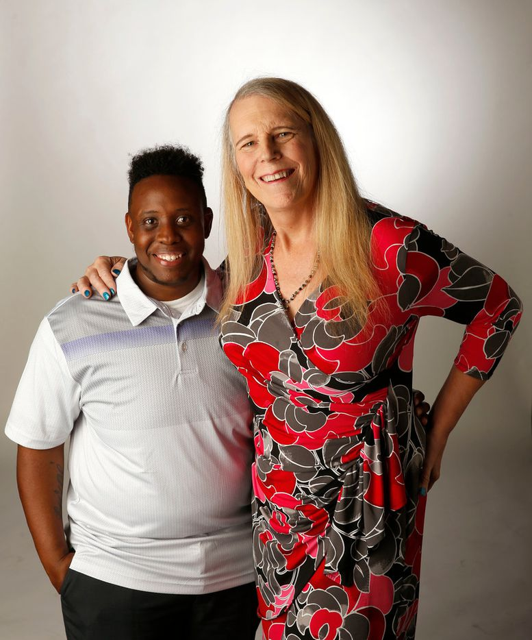 TreShaun Pate and Leslie McMurray pose for a portrait in the studio in Dallas on Thursday, June 14, 2018. (Vernon Bryant/The Dallas Morning News)