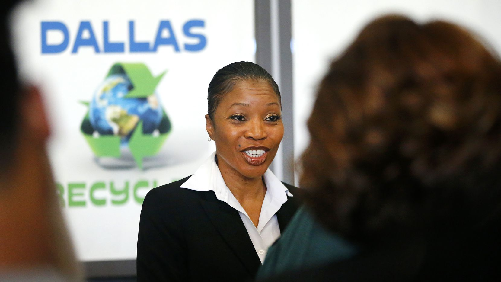 Candidate for new Dallas Police Chief U. Renee Hall, a Deputy Chief in the Detroit Police Department, listens to the concerns of residents during a meet and greet at Dallas City Hall, Tuesday, July 11, 2017. (Tom Fox/The Dallas Morning News)