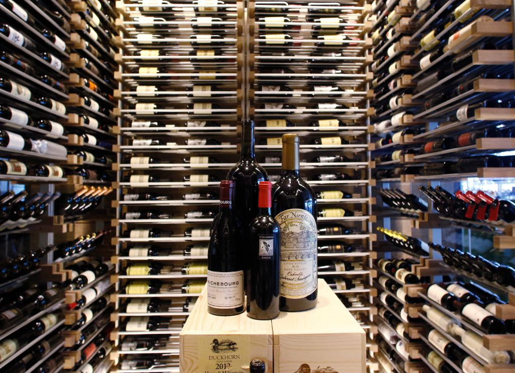 The wine room located in the new Del Frisco's Double Eagle Steak House in Plano on Friday, April 28, 2017. They stock over 9,000 bottles of wine for their customers. Photo taken on Friday, April 28, 2017. (David Woo/The Dallas Morning News)