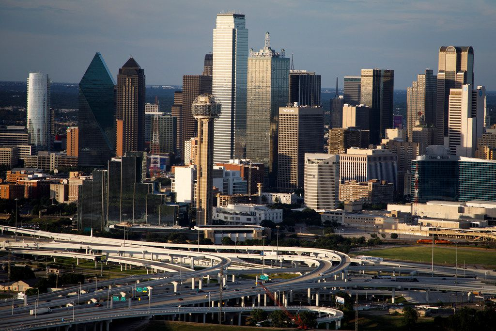 The downtown skyline and Horseshoe Project photographed on Thursday, July 27, 2017, in Dallas.