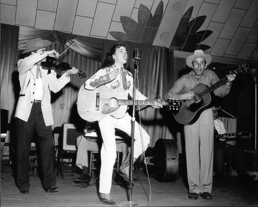 """Charline Arthur (center) was a regular on the """"Big D Jamboree"""" radio program in the 1950s and '60s."""