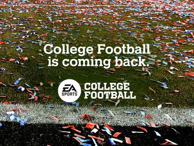 EA Sports tweeted out this image to announce the return of its college football video game series.