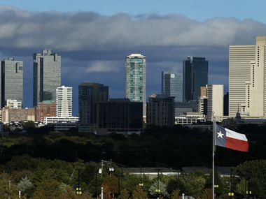 The Fort Worth skyline, Wednesday afternoon, October 28, 2020.