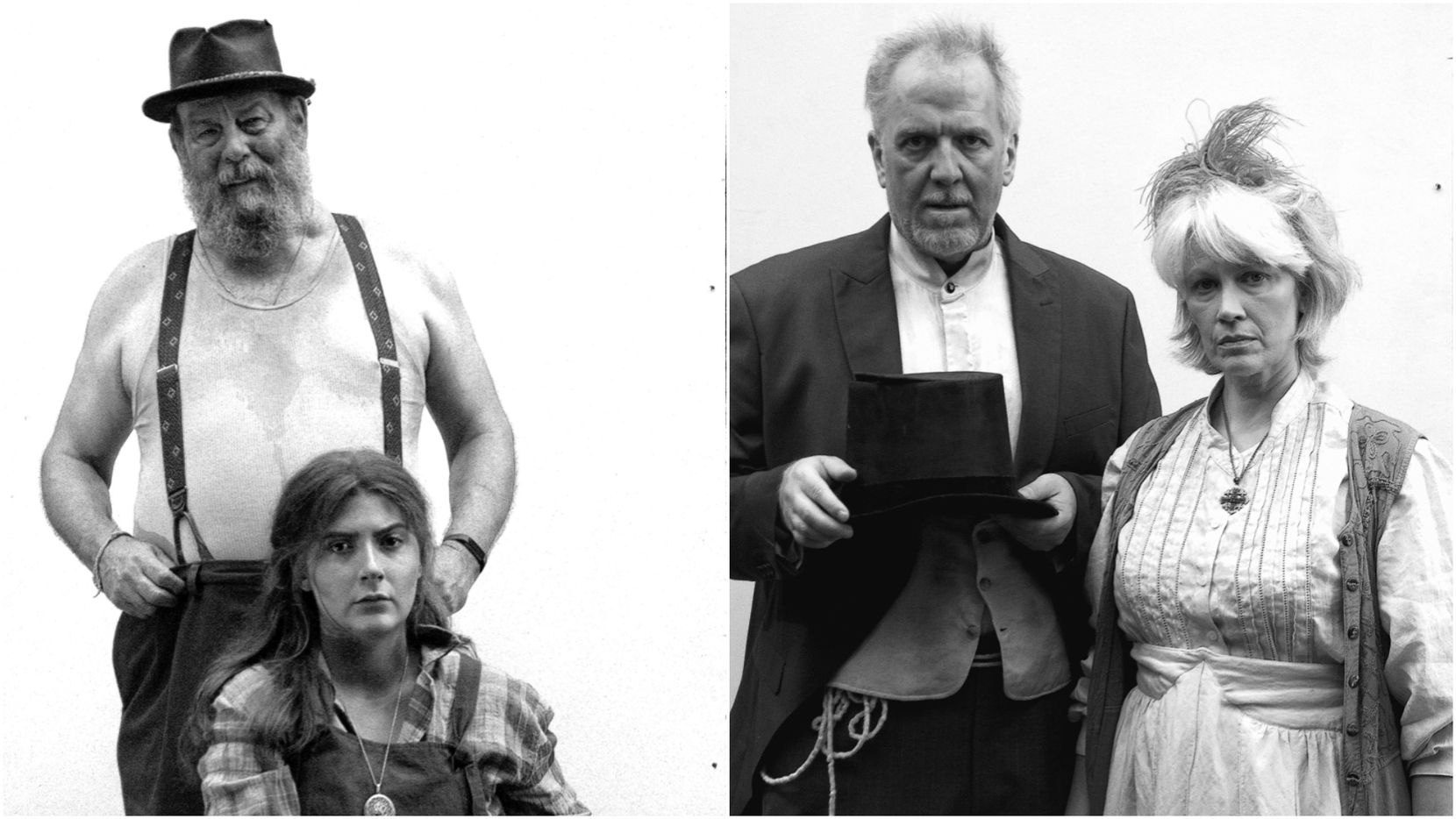 """From top left, Matthew Posey, Quinn Coffman, Kevin Grammer and Carla Parker star as Depression-era characters in the original Ochre House Theater/Dallas Flamenco Festival production """"Cursed!"""""""