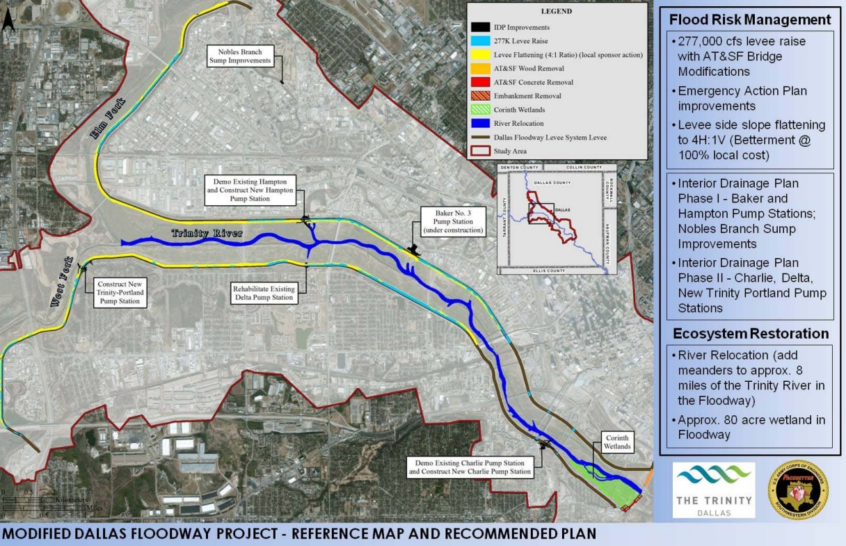 A map of what's coming, from a recent Trinity River briefing given to the Dallas City Council