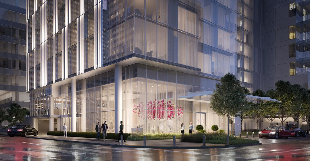 The new Hall Arts Hotel is expected to open this fall in the Dallas Arts District. The million-dollar residences — located in a 28-story tower — open in early 2020.