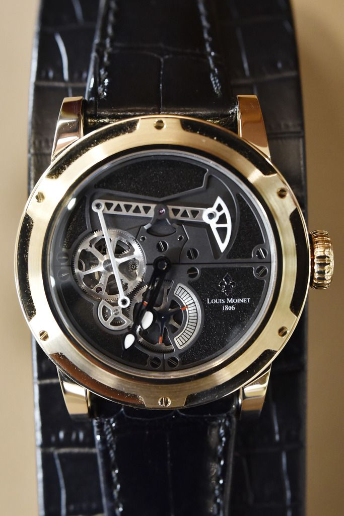 A Black Gold Derrick Louis Moinet selling for $65,000 at Eiseman Jewels inside NorthPark Center in Dallas, Feb 18, 2020. Ben Torres/Special Contributor