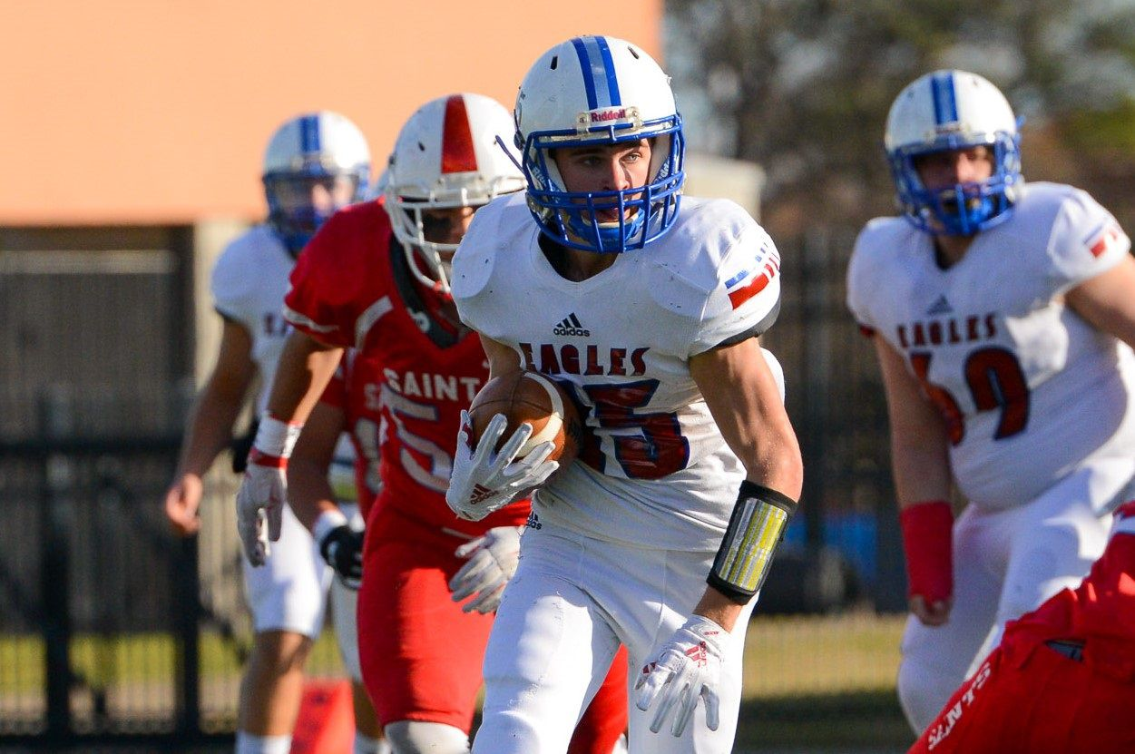 Fort Worth Lake Country Christian RB Hayden Whites.