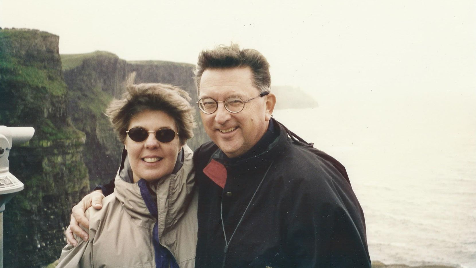 John and Eileen Lumpkin in 1999 at Cliffs of Moher on west coast of Ireland